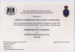 Peterborough Cathedral Service for Rutland